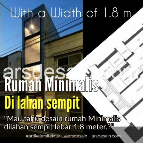 Rumah minimalis moden di lahan sempit