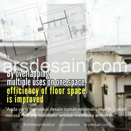 Rumah minimalis overlaping