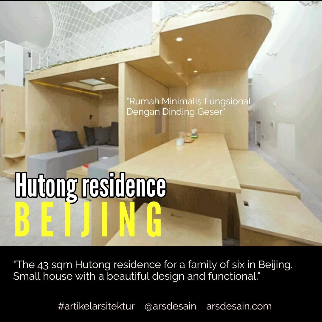 Rumah Minimalis Fungsional Dengan Dinding Geser