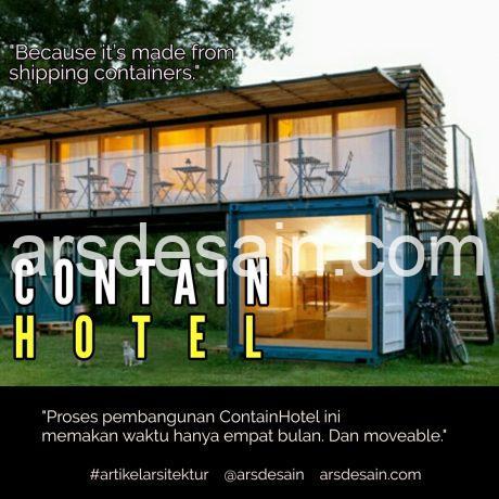 Hotel berbahan container, artikel arsitektur