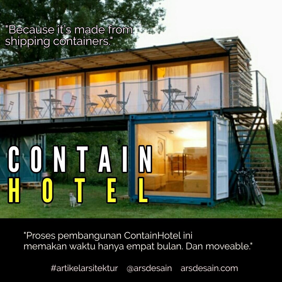Hotel berbahan container yang bernama ContainHotel