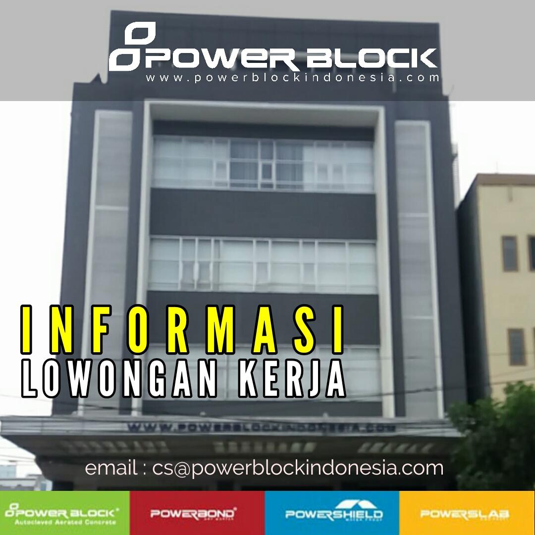 Lowongan Kerja PT. Powerblock Indonesia