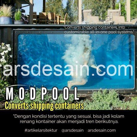 Kolam renang kontainer bekas, artikel arsitektur