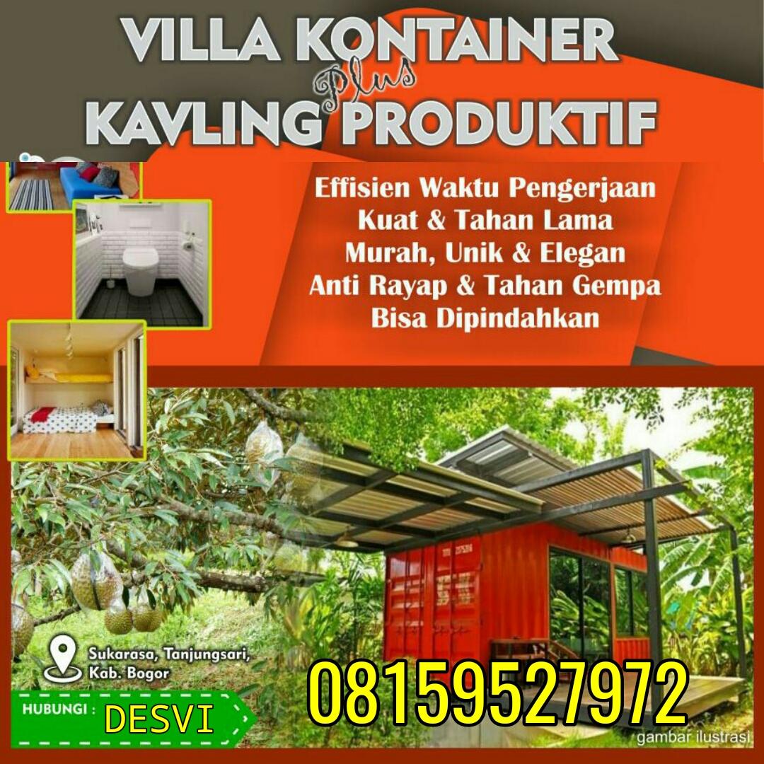 Investasi Kavling Produktif Plus Villa Kontainer