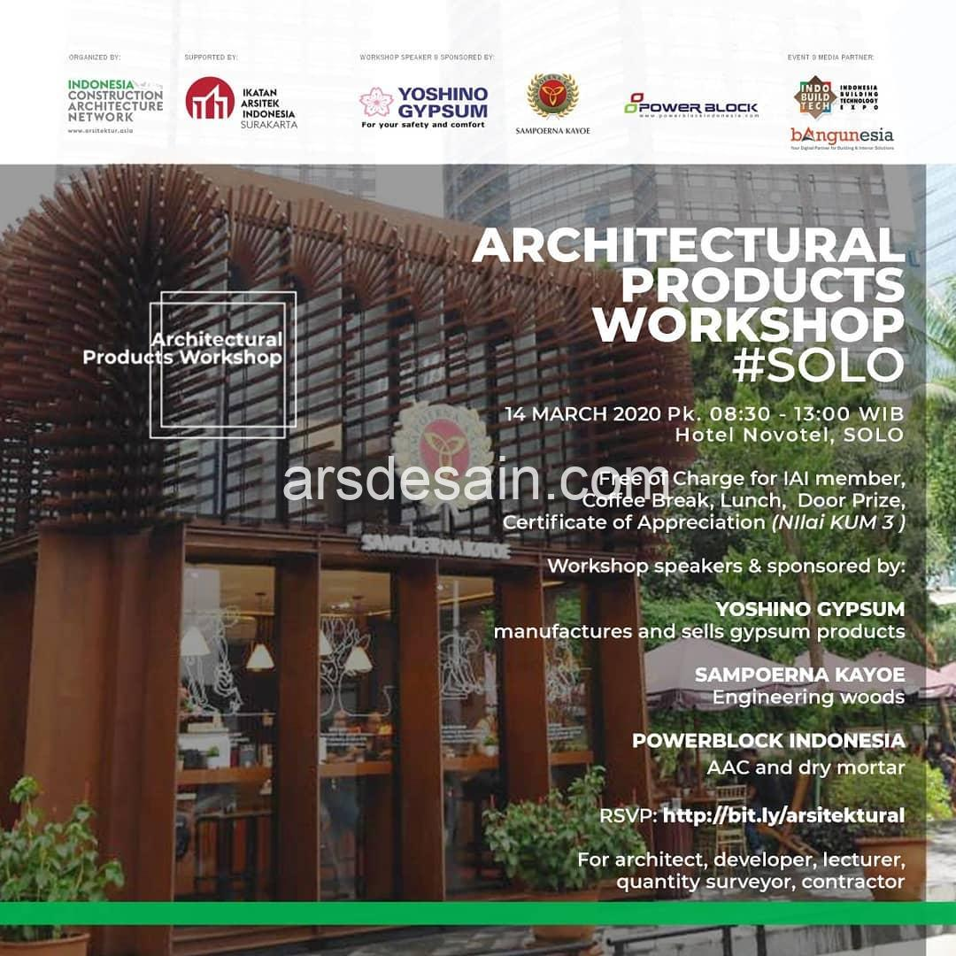 ARCHITECTURAL PRODUCTS WORKSHOP #SOLO